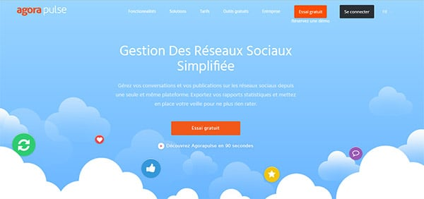 Agora Pulse, gestion des publications sociales