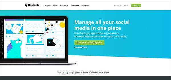 Hootsuite, gestion des publications sociales