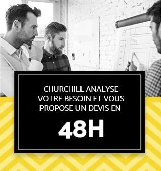 Churchill analyse votre besoin et vous propose un devis en 48h