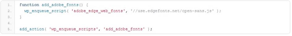 polices de caractères avec wordpress script
